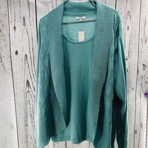 NWT - Plus Size Teal Sweater Knit Top